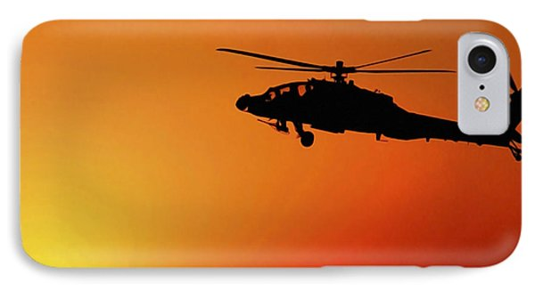 A U.s. Army A-64 Apache Helicopter IPhone Case