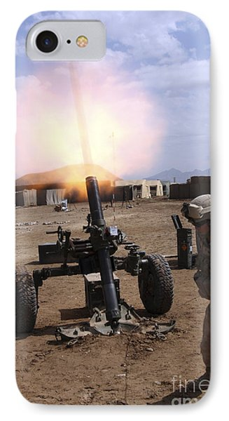 A U.s. Marine Corps Gunner Fires Phone Case by Stocktrek Images