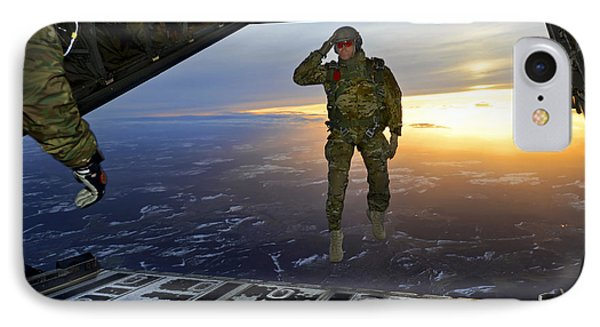 A U.s. Soldier Salutes His Fellow IPhone Case by Stocktrek Images