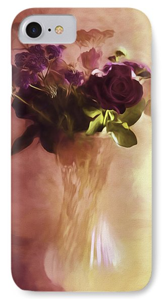 A Vase Of Flowers Touched By The Morning Sun IPhone Case by Diane Schuster