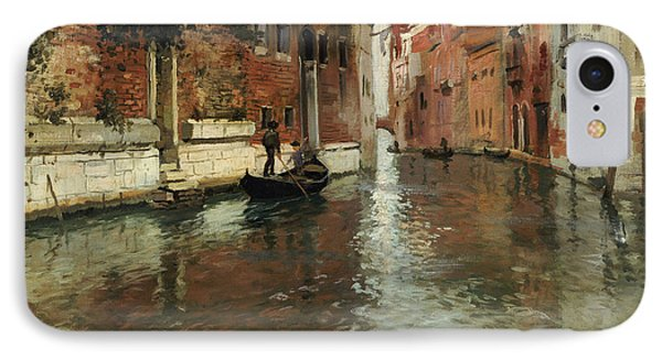 A Venetian Backwater  IPhone Case by Fritz Thaulow