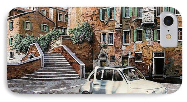 a Venezia in 500 IPhone Case by Guido Borelli