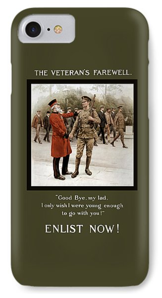 A Veteran's Farewell - Ww1 IPhone Case by War Is Hell Store
