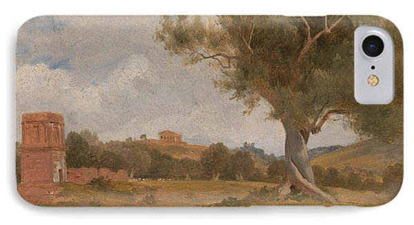 A View At Girgenti In Sicily With The Temple Of Concord And Juno IPhone Case by Charles Lock Eastlake