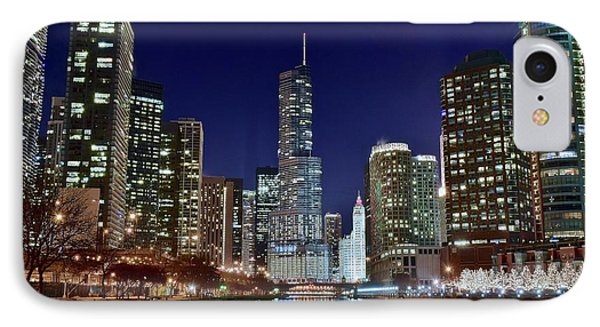 A View Down The Chicago River IPhone 7 Case by Frozen in Time Fine Art Photography