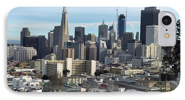 A View Of Downtown From Nob Hill IPhone Case by Steven Spak