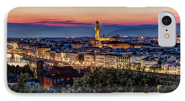 A View Of Florence IPhone Case by Brent Durken