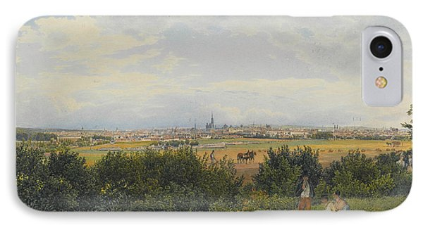 A View Of Vienna From The Prater With Figures In The Foreground IPhone Case by Rudolph von Alt
