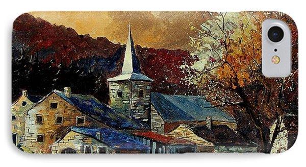 A Village In Autumn Phone Case by Pol Ledent