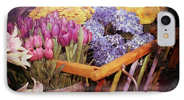 A Wagon Full Of Spring IPhone Case by Patrice Zinck