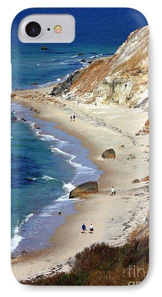 A Walk Along Aquinnah Beach Phone Case by Carol Groenen