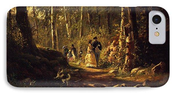 A Walk In A Forest, 1869  IPhone Case by Ivan Ivanovich Shishkin