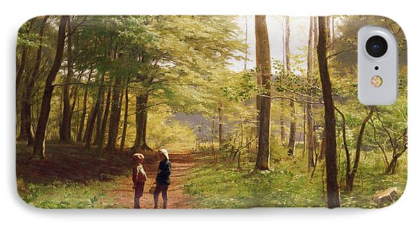 A Walk In The Forest Phone Case by Niels Christian Hansen