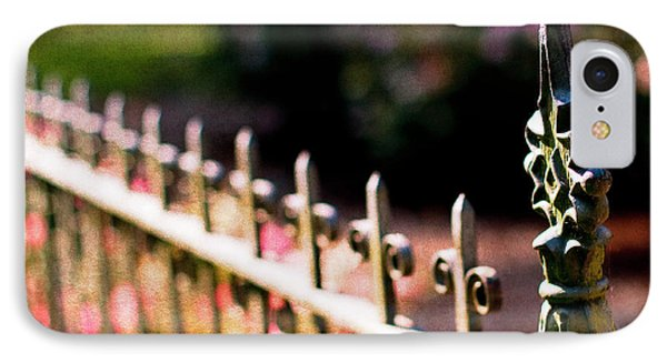A Walk In The Garden IPhone Case by Rebecca Cozart