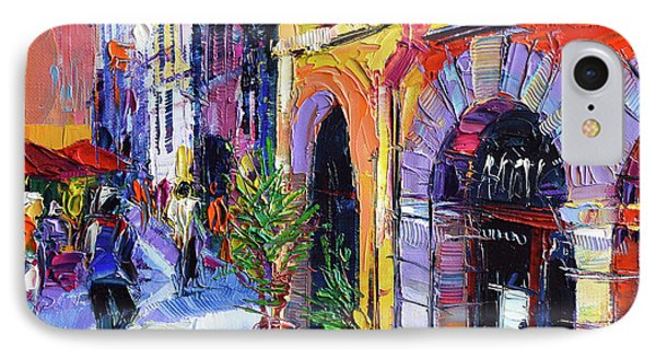 A Walk In The Lyon Old Town IPhone Case by Mona Edulesco