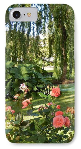 A Walk In The Park IPhone Case by Ann Johndro-Collins