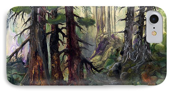 IPhone Case featuring the painting A Walk In The Woods by Sherry Shipley