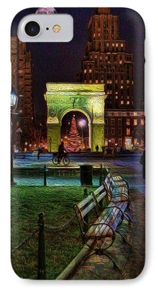 A Walk In Washington Square IPhone Case