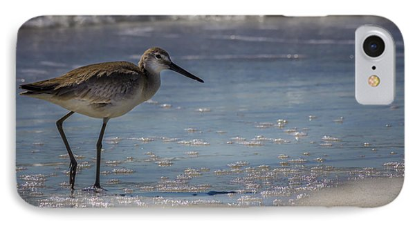 Sandpiper iPhone 7 Case - A Walk On The Beach by Marvin Spates