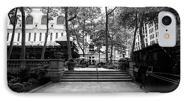 A Walk Through Bryant Park IPhone Case by John Rizzuto