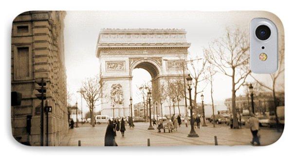 A Walk Through Paris 3 IPhone Case by Mike McGlothlen