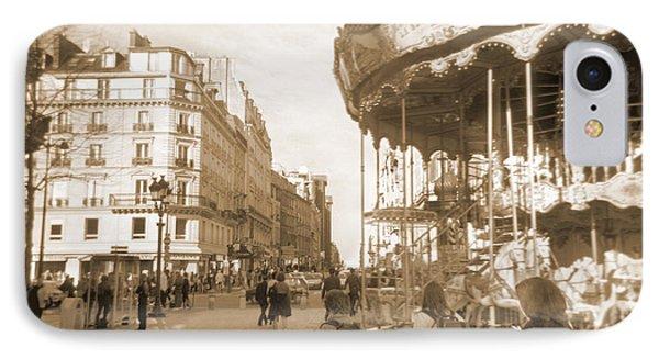 A Walk Through Paris 4 IPhone Case by Mike McGlothlen