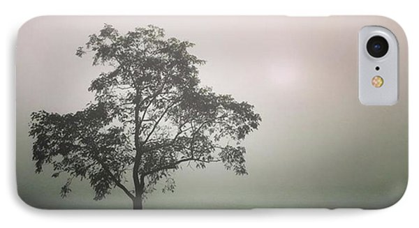 A Walk Through The Clouds #fog #nuneaton IPhone Case by John Edwards