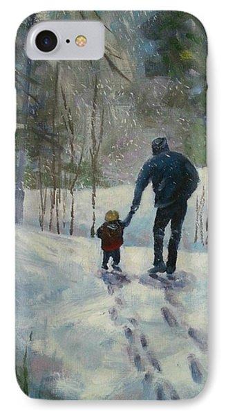 A Walk Thru The Winter Woods IPhone Case