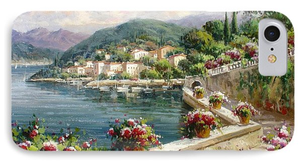 A Walkway By Como Lake IPhone Case by Lucio Campana