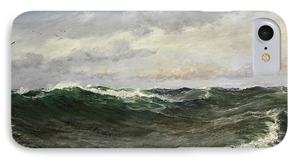 A Waste Of Waters IPhone Case by Charles Napier Hemy
