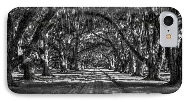 The Majestic Way Live Oaks Tomalley Plantation South Carolina IPhone Case by Reid Callaway