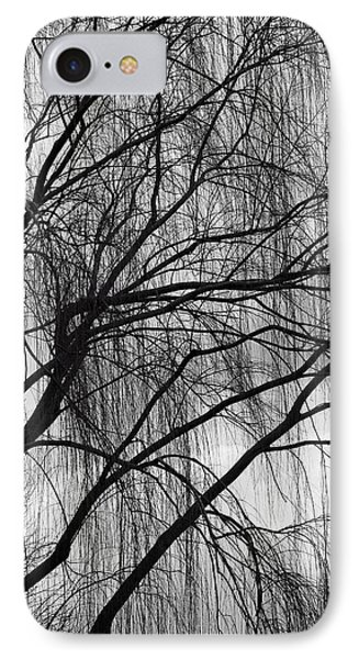 A Weeping Willow In Black And White IPhone Case