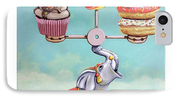IPhone Case featuring the painting A Well-balanced Diet by Linda Apple
