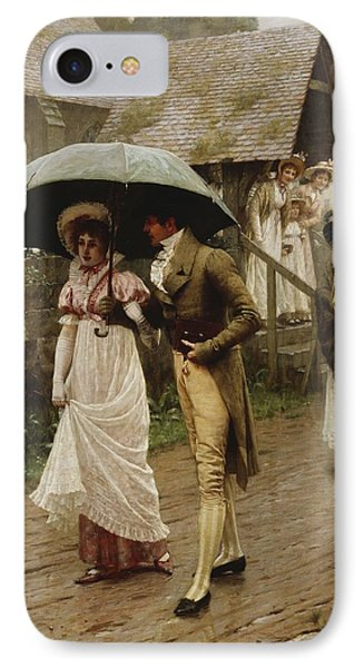 A Wet Sunday Morning Phone Case by Edmund Blair Leighton
