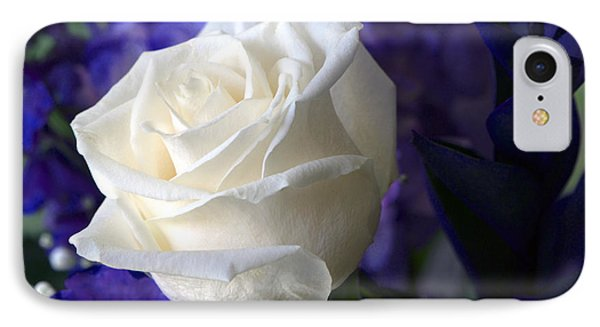 A White Rose IPhone Case by Sharon Talson