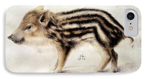 A Wild Boar Piglet IPhone Case by Hans Hoffmann