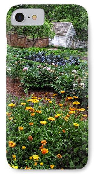 A Williamsburg Garden IPhone Case by Dave Mills