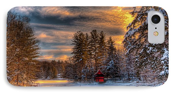 A Winter Sunset IPhone Case by David Patterson