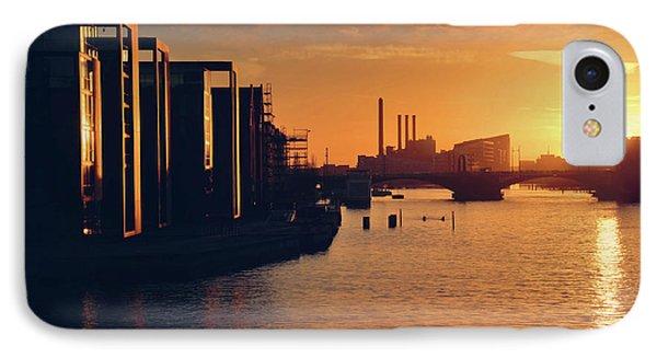 A Winter Sunset From Knippelsbro Bridge In Copenhagen  IPhone Case by Carol Japp