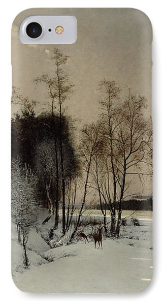 A Winter View In Posen IPhone Case by Hans Hampke