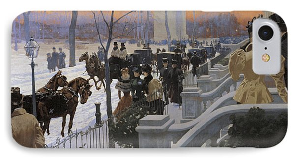 A Winter Wedding Washington Square IPhone Case by Fernand Lungren