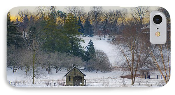 A Winters Day At Morris Arboretum IPhone Case by Bill Cannon