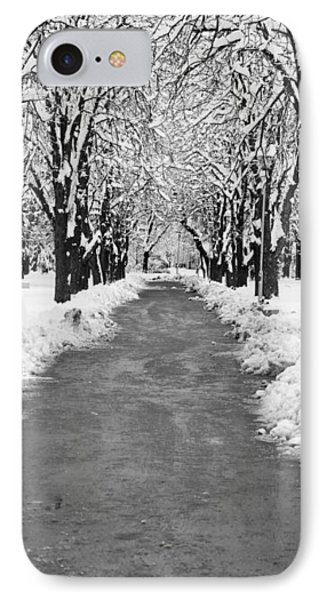 A Winter's Path Phone Case by Rae Tucker