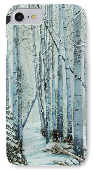 IPhone Case featuring the painting A Winter's Tale by Stanza Widen