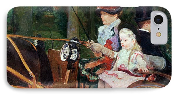 A Woman And Child In The Driving Seat Phone Case by Mary Stevenson Cassatt