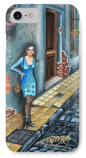 A Woman In Buenos Aires II IPhone Case by Graciela Bello