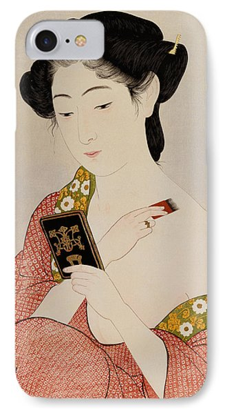 A Woman In Underclothes IPhone Case by Goyo Hashiguchi