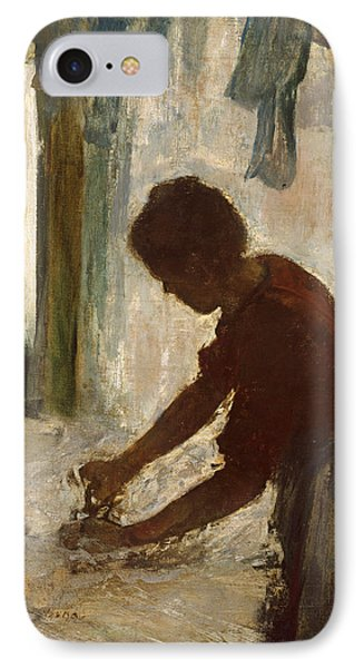 IPhone Case featuring the painting A Woman Ironing by Edgar Degas
