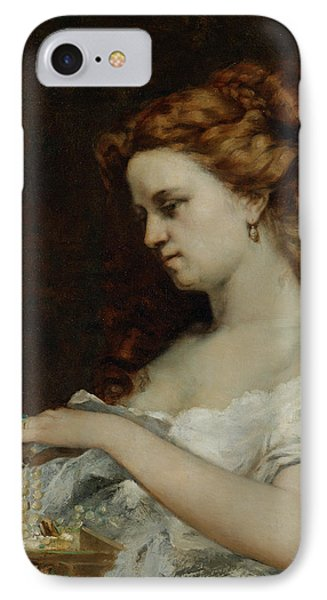 A Woman With Jewellery Phone Case by Gustave Courbet