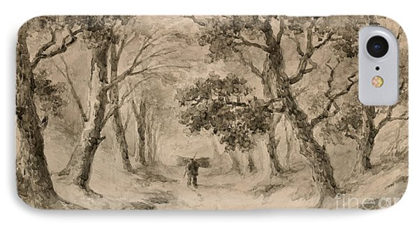 A Wood Gatherer In The Forest IPhone Case